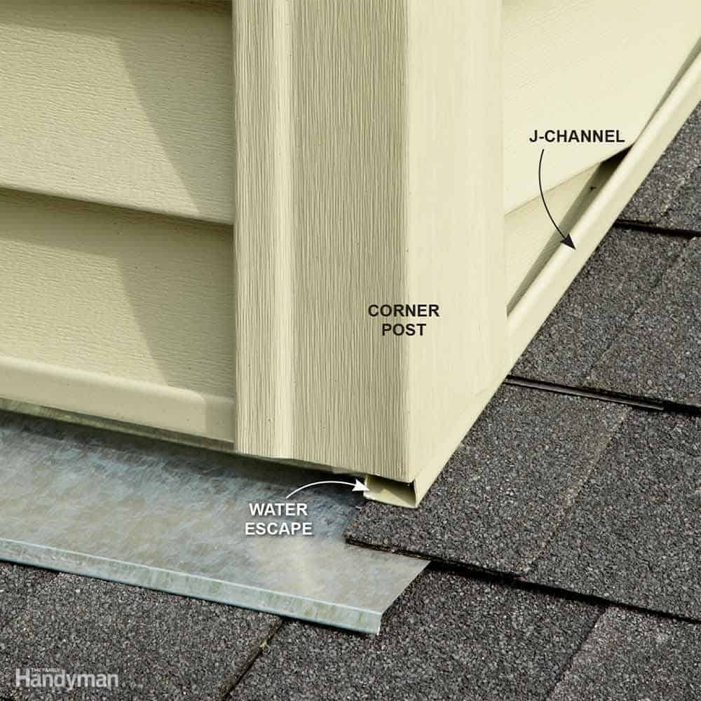 Diy how to install vinyl siding - Don T Trap Water Behind Corners